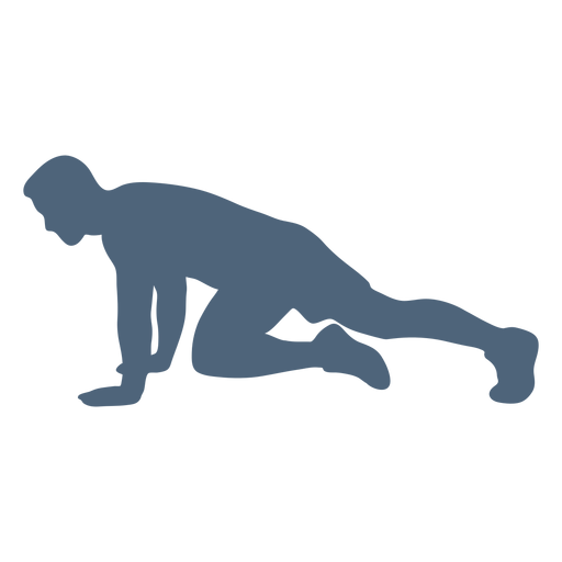 Pose running silhouette Transparent PNG