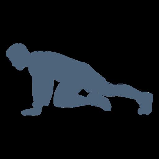 Pose running silhouette
