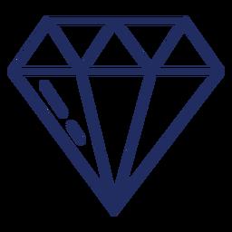 Bonito trazo de diamante
