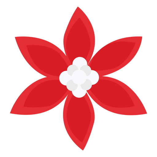 Flor de p?talos rojos