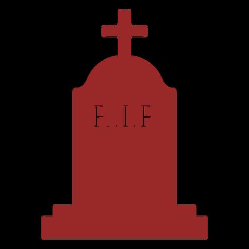 Rest in peace cross silhouette gravestone