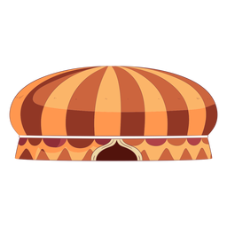 Round colored circus tent