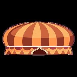 Tenda de circo colorida redonda