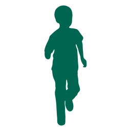 Running child silhouette