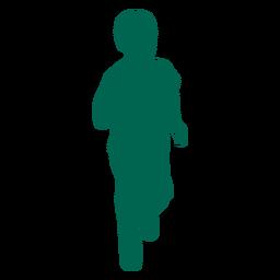 Silueta de niño corriendo