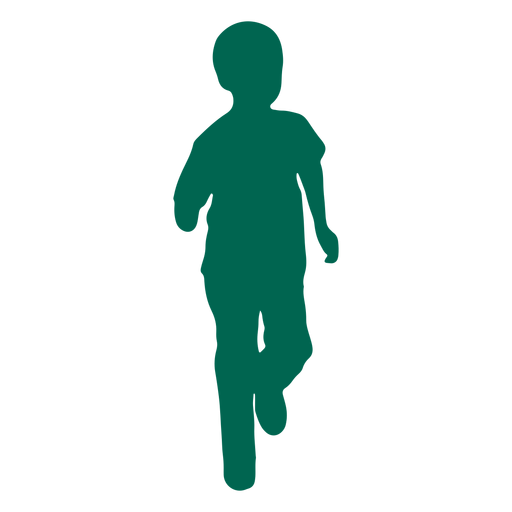 Running child silhouette Transparent PNG