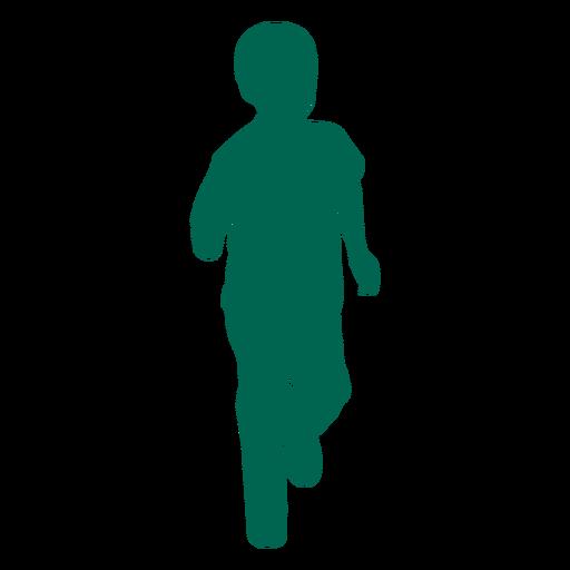 Running child silhouette