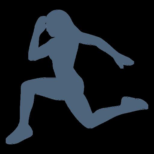 Running girl pose