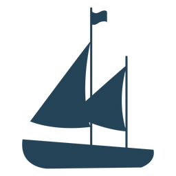Sailboat with flag vector