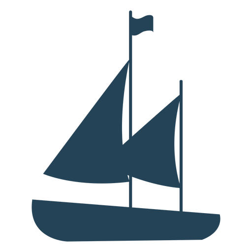 Sailboat with flag vector Transparent PNG