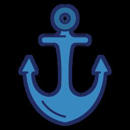 Schiff Anker flach