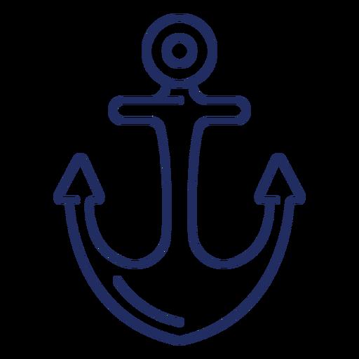 Ship anchor stroke boat