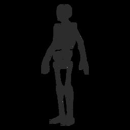 Silhueta de esqueleto chocado