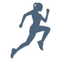 Side view running girl silhouette