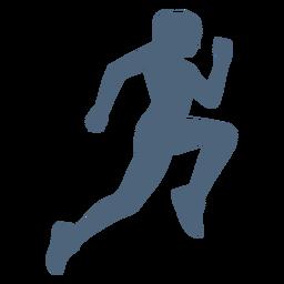 Vista lateral corriendo silueta de niña