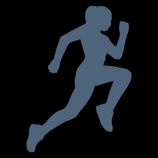 Silueta de niña corriendo vista lateral Transparent PNG