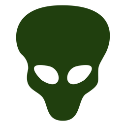 Cabeza alienígena silueta