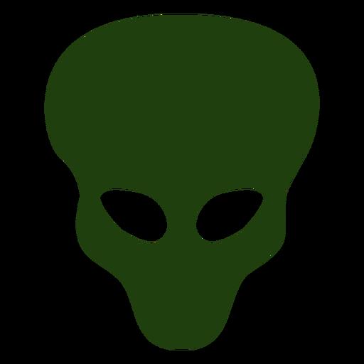 Silhouette alien head