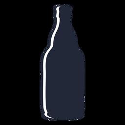 Garrafa de cerveja de silhueta