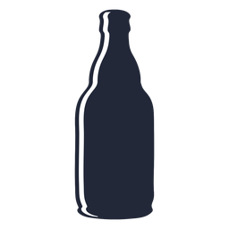 Silhouette beer bottle