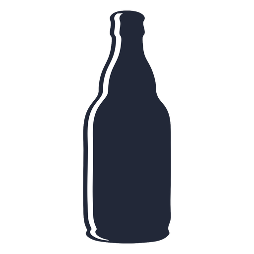 Silhouette beer bottle Transparent PNG