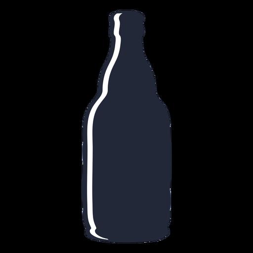 Silhouette beer bottle