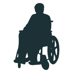 Silhouette disabled person