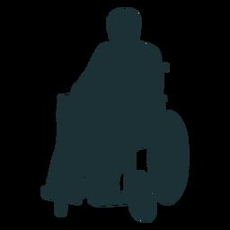 Silueta persona discapacitada