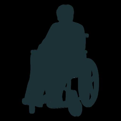 Silueta persona discapacitada Transparent PNG