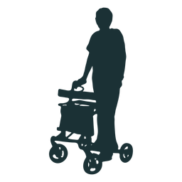 Silhouette person disabled