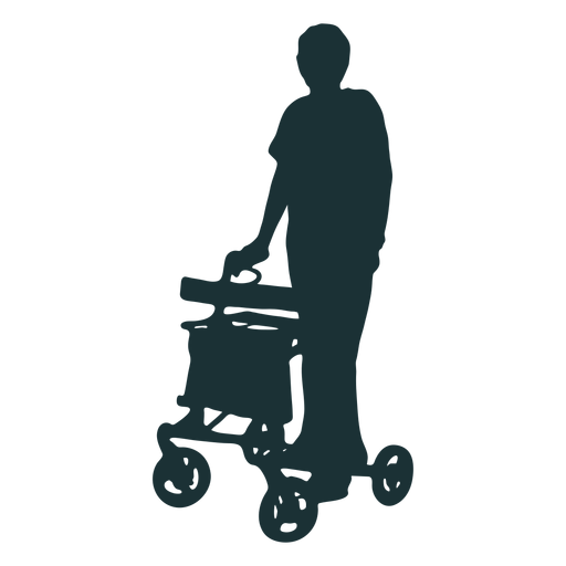 Silhouette person disabled Transparent PNG
