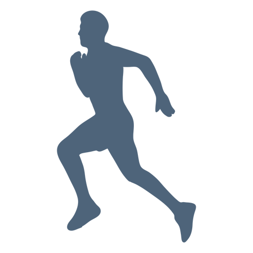 Silhouette running man Transparent PNG