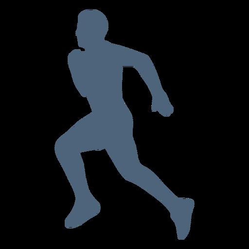 Silhouette running man