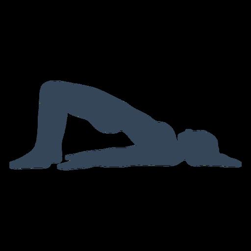 Pose de silueta de yoga