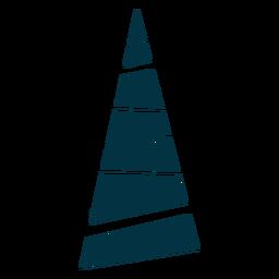 Árvore de Natal abstrata simples