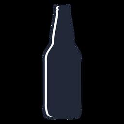 Simple beer bottle silhouette