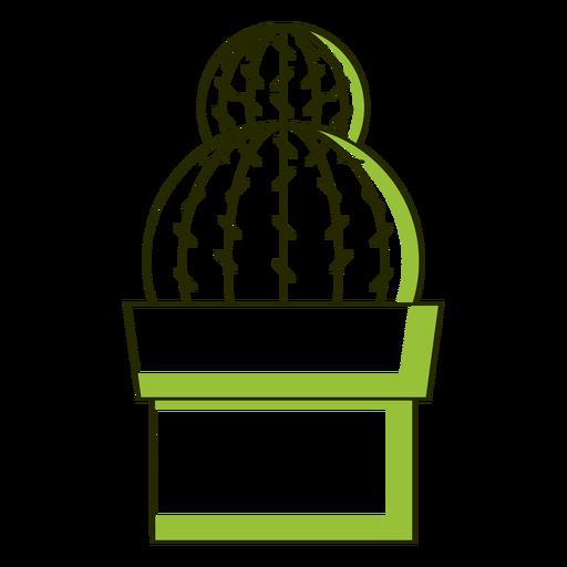 Tono simple de cactus dúo