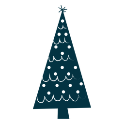 Simple christmas tree abstract