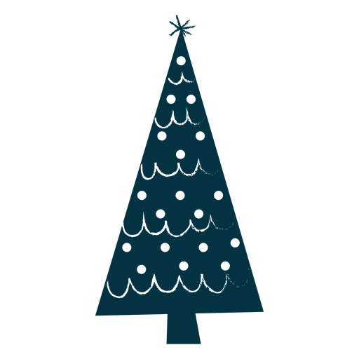 Simple christmas tree abstract Transparent PNG