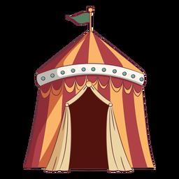 Tenda de circo simples colorida