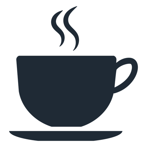 Simple cup silhouette Transparent PNG