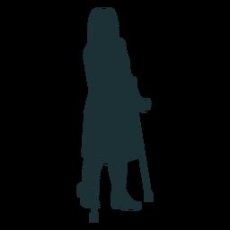 Silhueta simples de pessoa com deficiência