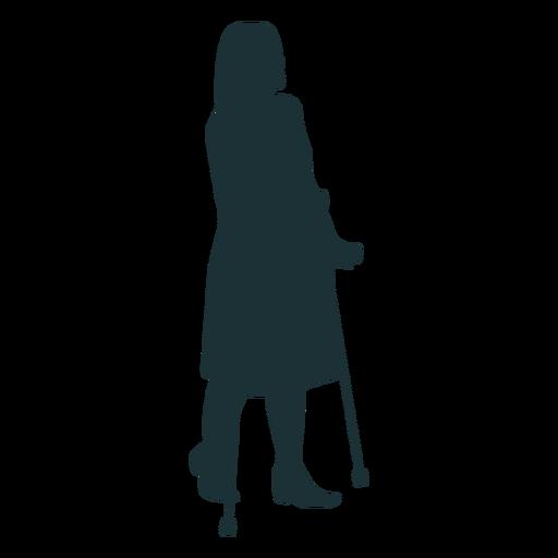 Silueta de persona discapacitada simple Transparent PNG