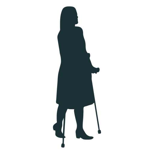 Simple disabled person silhouette Transparent PNG