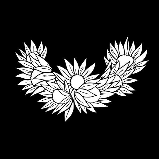Trazo de flores simples