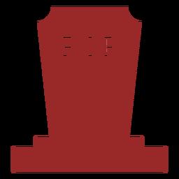 Simple gravestone silhouette