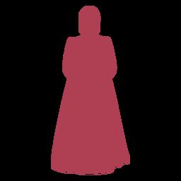 Simple old era female silhouette