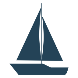Simple sailboat vector