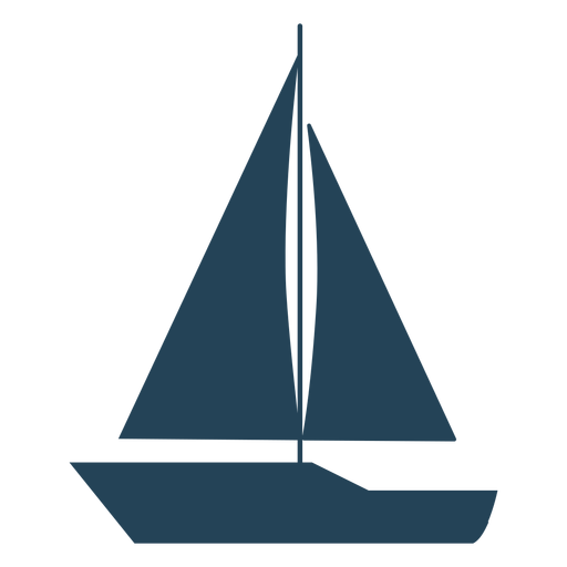 Simple sailboat vector Transparent PNG