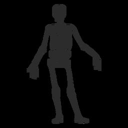 Einfache Skelett-Silhouette